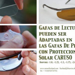 Dioptría de lectura incorporada para gafas piloto CARUSO