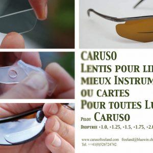 Dioptrie de lecture intégrée pour les lunettes pilotes CARUSO